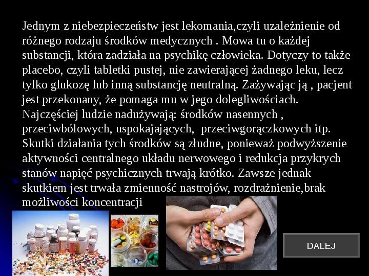 Szkodliwy wpływ czynników chemicznych na człowieka - Slajd 16