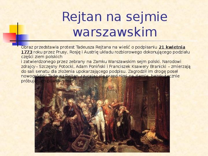 Historia Polski w obrazach Jana Matejki - Slajd 6