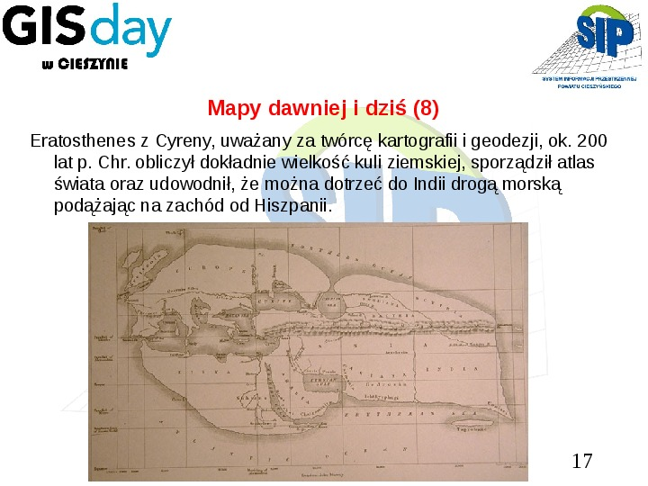 Mapy dawniej i dziś - Slajd 16
