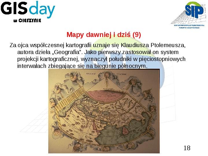 Mapy dawniej i dziś - Slajd 17