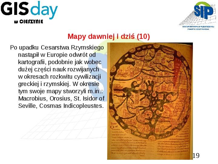 Mapy dawniej i dziś - Slajd 18