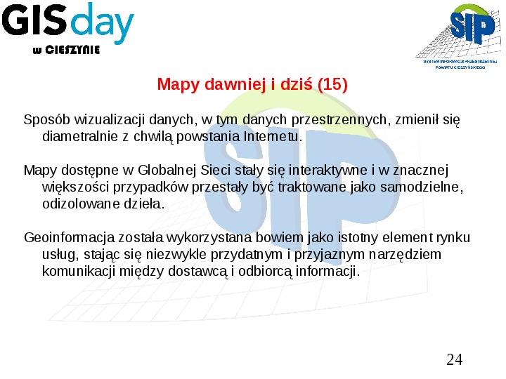 Mapy dawniej i dziś - Slajd 23