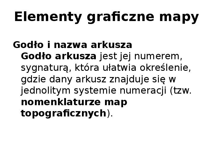 Elementy graficzne mapy - Slajd 1