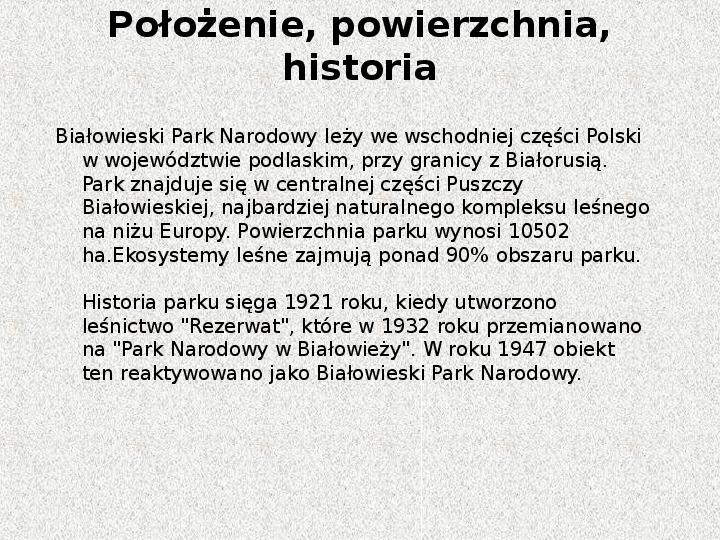 Parki Narodowe - Slajd 9