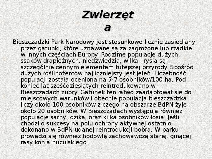 Parki Narodowe - Slajd 24