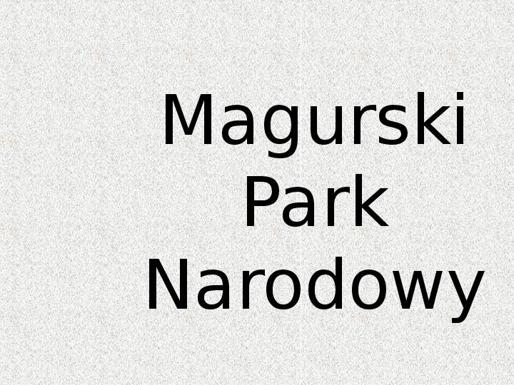 Parki Narodowe - Slajd 93