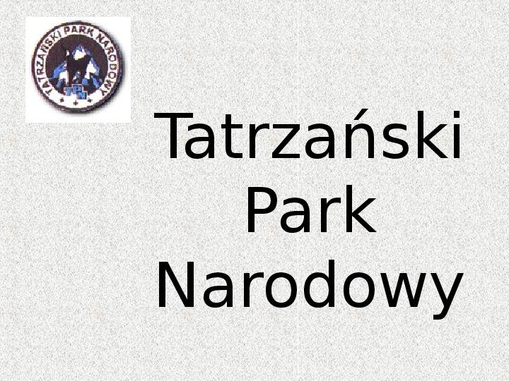 Parki Narodowe - Slajd 117
