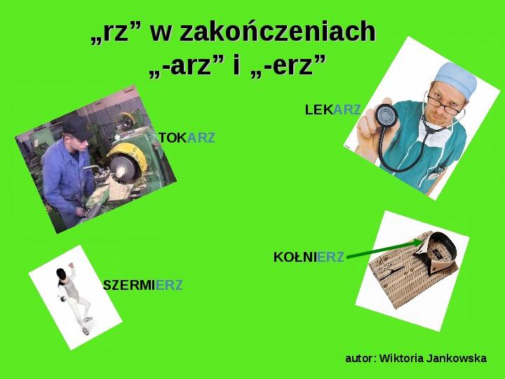 """Zasady pisowni wyrazów z """"rz"""" i """"ż"""" - Slajd 3"""