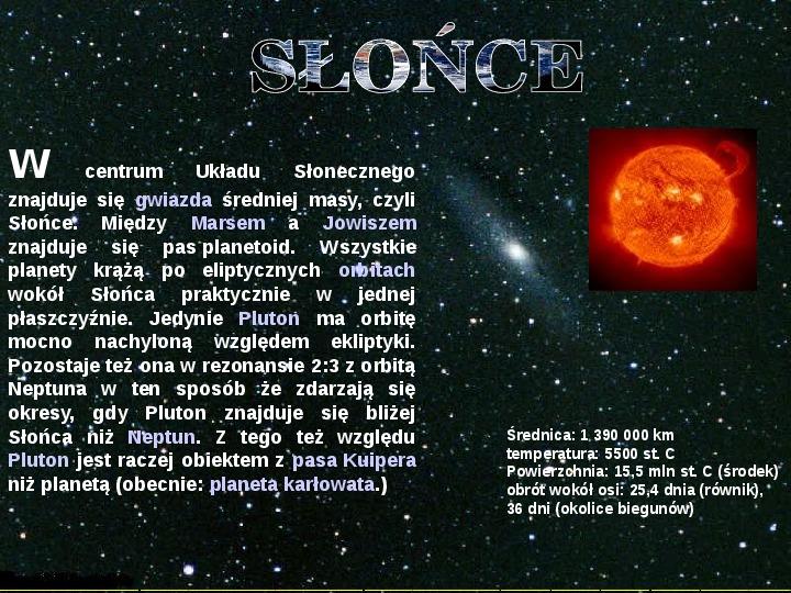 Układ Słoneczny oraz Mikołaj Kopernik - Slajd 5