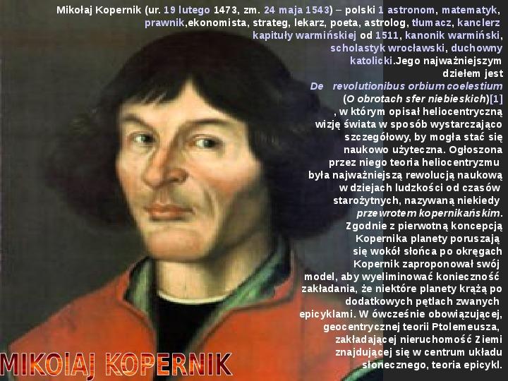 Układ Słoneczny oraz Mikołaj Kopernik - Slajd 17