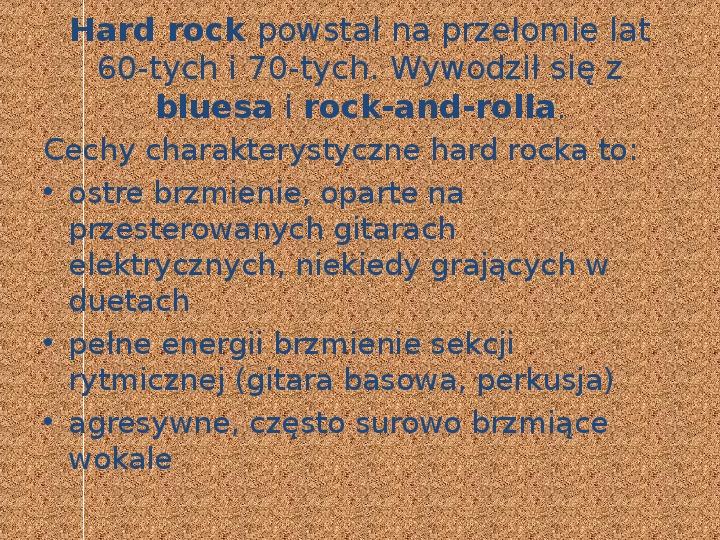 Rock i inne gatunki muzyki rozrywkowej - Slajd 2