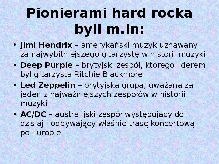 Rock i inne gatunki muzyki rozrywkowej - Slajd 3