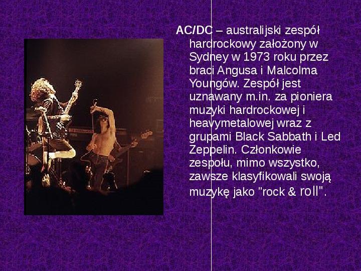 Rock i inne gatunki muzyki rozrywkowej - Slajd 4
