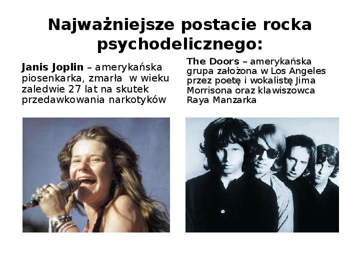 Rock i inne gatunki muzyki rozrywkowej - Slajd 6