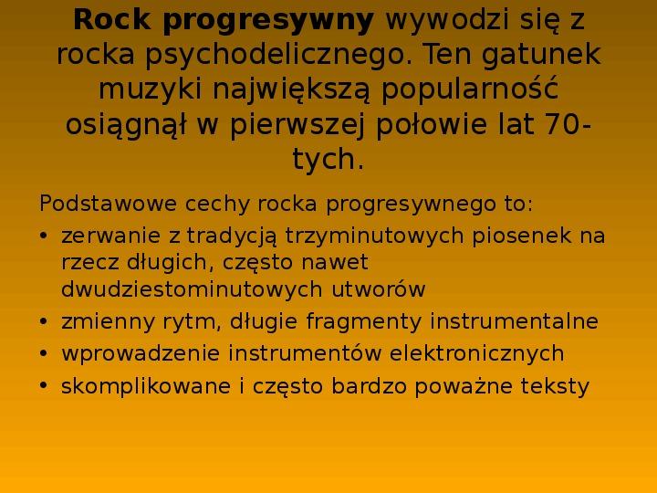 Rock i inne gatunki muzyki rozrywkowej - Slajd 8