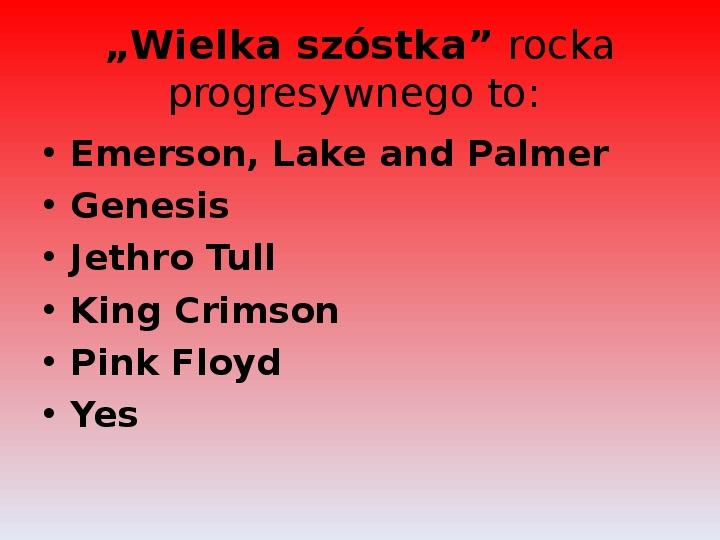 Rock i inne gatunki muzyki rozrywkowej - Slajd 9