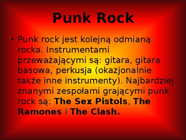 Rock i inne gatunki muzyki rozrywkowej - Slajd 13