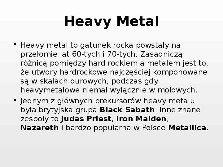 Rock i inne gatunki muzyki rozrywkowej - Slajd 26
