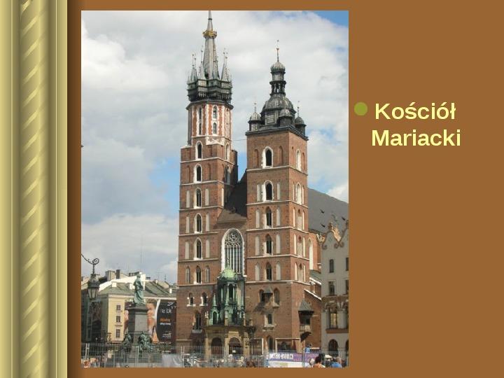 Zwiedzamy Kraków - Slajd 5