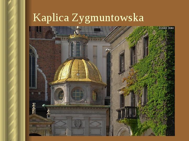 Zwiedzamy Kraków - Slajd 20