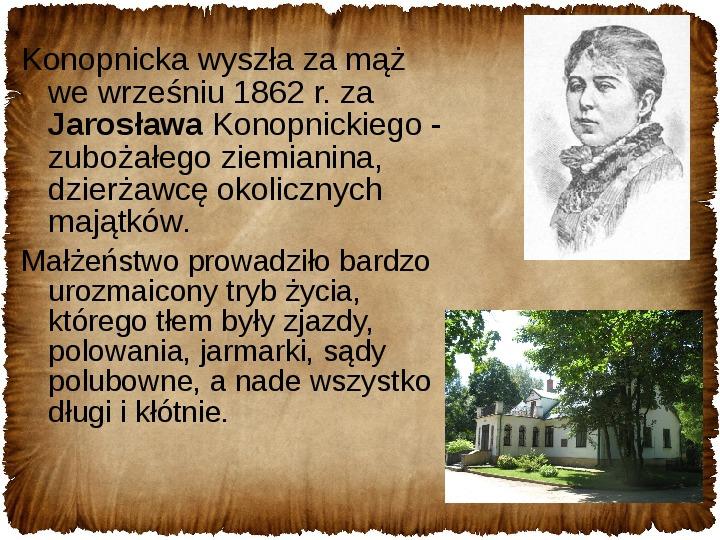 Maria Konopnicka - Slajd 7