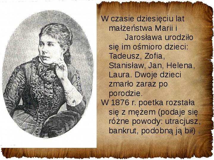 Maria Konopnicka - Slajd 8