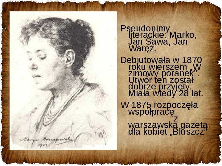Maria Konopnicka - Slajd 9