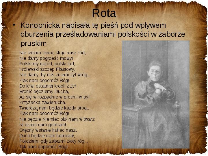 Maria Konopnicka - Slajd 13