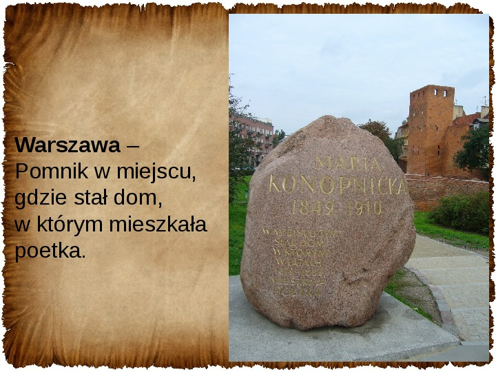 Maria Konopnicka - Slajd 16