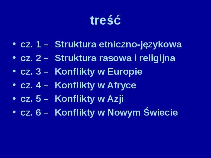Współczesne konflikty narodowościowe - Slajd 1