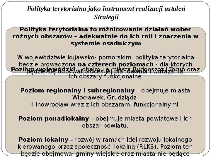 Polityka terytorialna jako instrument rozwoju województwa - Slajd 8