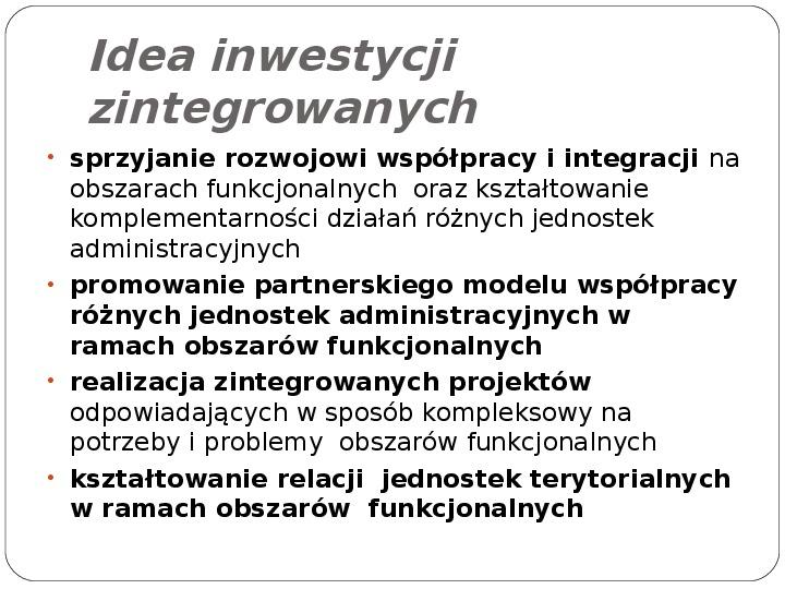 Polityka terytorialna jako instrument rozwoju województwa - Slajd 10