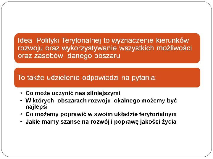 Polityka terytorialna jako instrument rozwoju województwa - Slajd 16