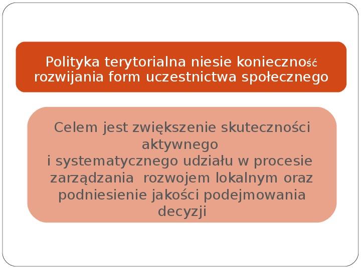 Polityka terytorialna jako instrument rozwoju województwa - Slajd 21