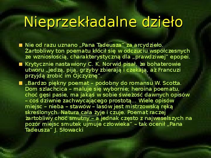 Adam Mickiewicz – znany i nieznany - Slajd 5