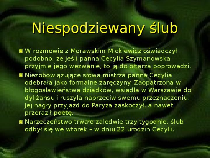 Adam Mickiewicz – znany i nieznany - Slajd 6