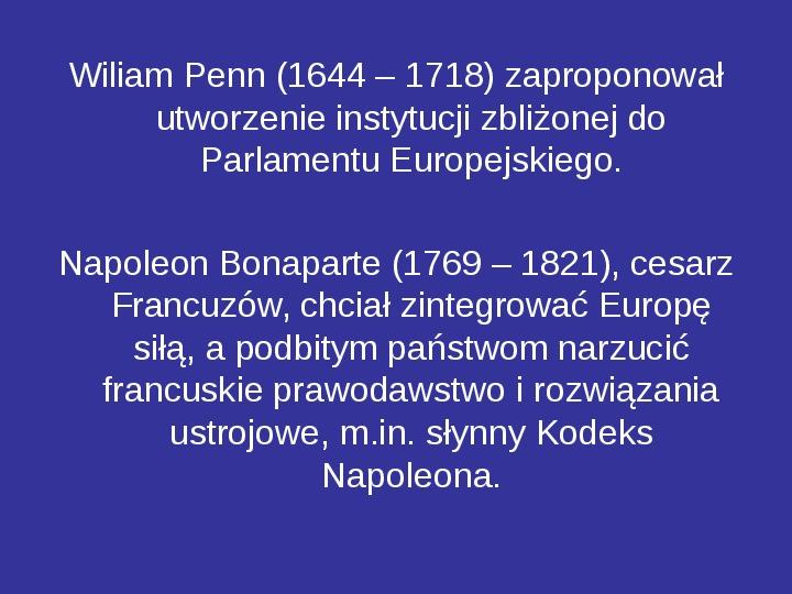 Integracja europejska - Slajd 12