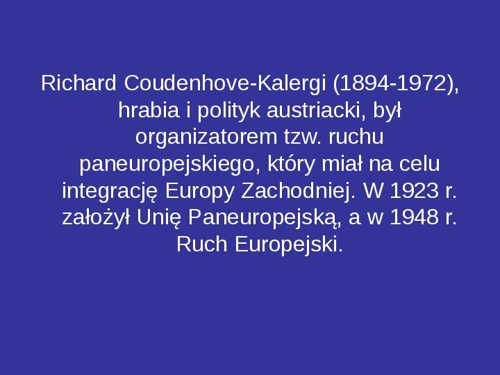 Integracja europejska - Slajd 14