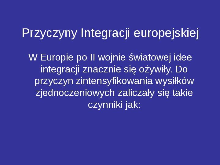 Integracja europejska - Slajd 15