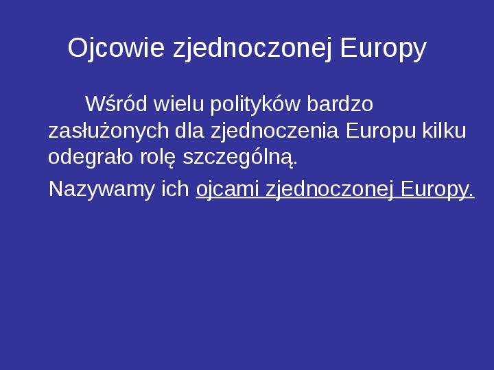 Integracja europejska - Slajd 18