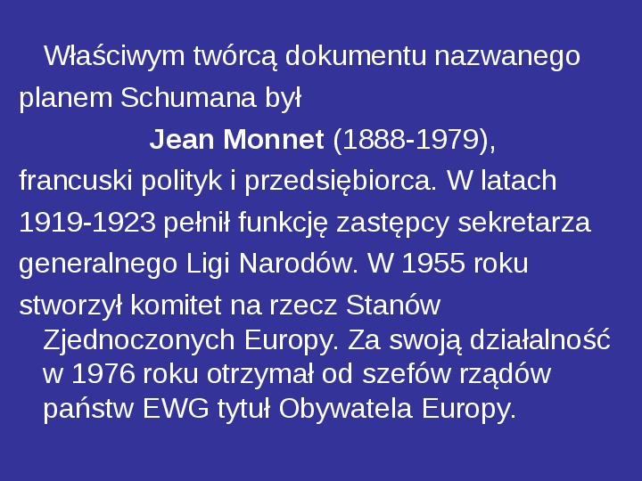 Integracja europejska - Slajd 20