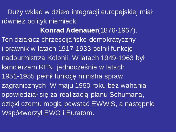 Integracja europejska - Slajd 21