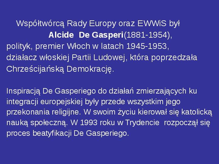 Integracja europejska - Slajd 23
