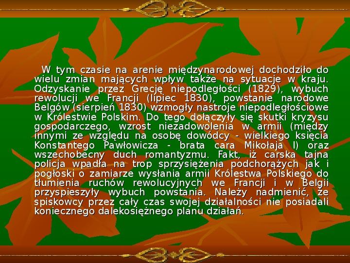 Powstanie listopadowe - Slajd 3