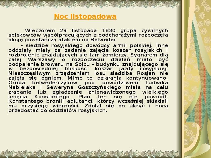 Powstanie listopadowe - Slajd 5