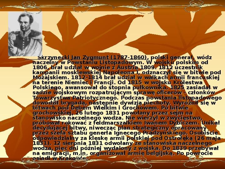 Powstanie listopadowe - Slajd 23
