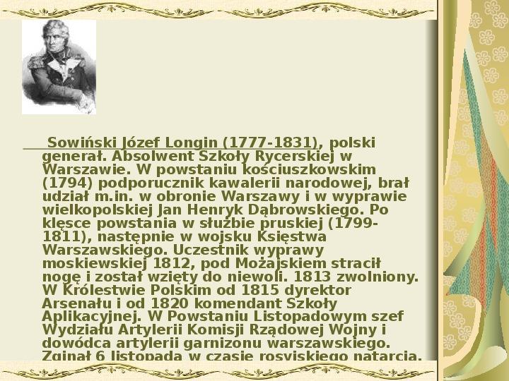 Powstanie listopadowe - Slajd 24