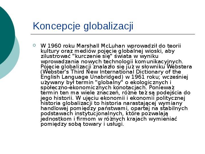 Globalizacja - Slajd 2