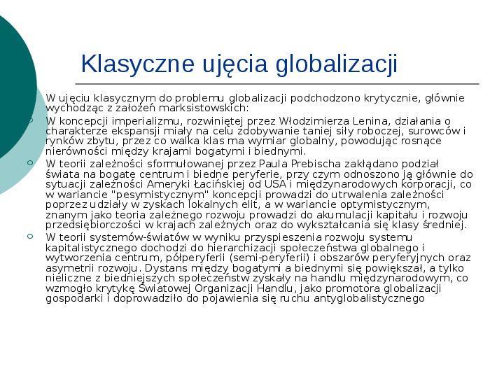 Globalizacja - Slajd 3