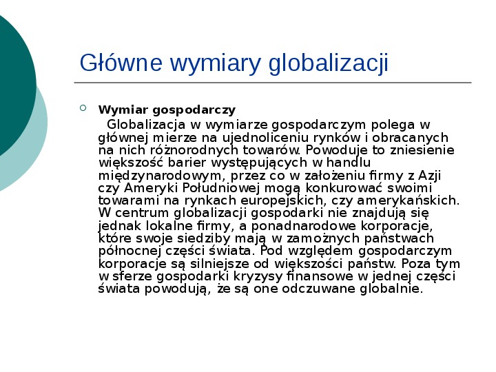 Globalizacja - Slajd 7